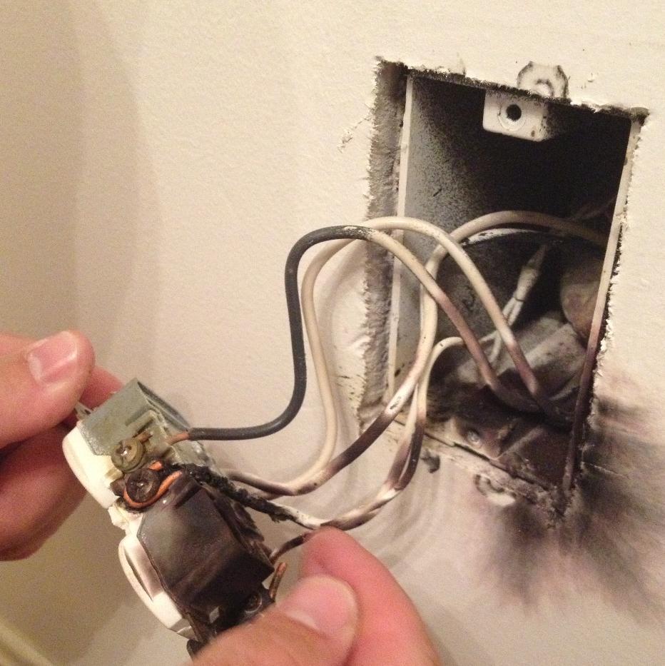 arcing an electrical shock or fire hazard lancaster win home rh elizabethtown wini com fireplace electrical wiring where do most electrical wiring fires begin